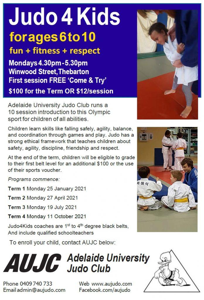 Judo 4 Kids - 2021 Brochure